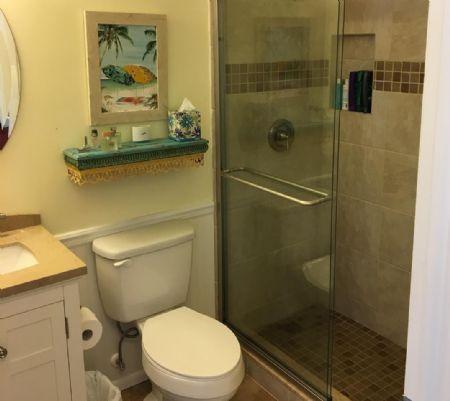 Fresh Bathroom Renovation!  Looks Nice!