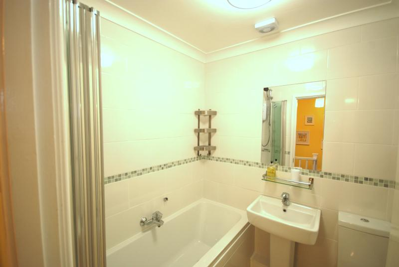 Everything in the bathroom has been recently upgraded, including an electric shower and glass screen