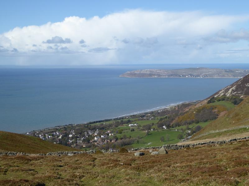 Great Orme (Llandudno) seen from the route to the Druid's stone circle