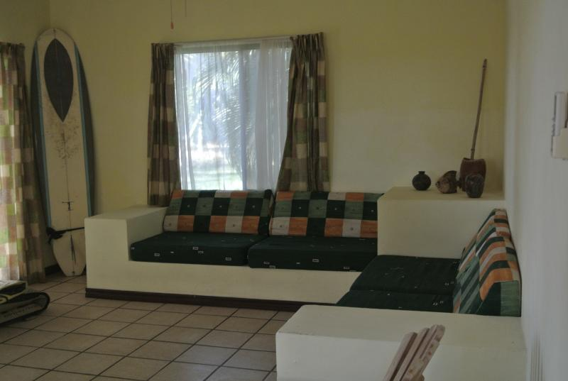 Living room with sofa/beds- suitable for young children