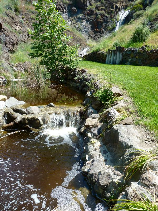 Our backyard is a box canyon and trails end with a 85 ft natural wet weather waterfall and ponds.