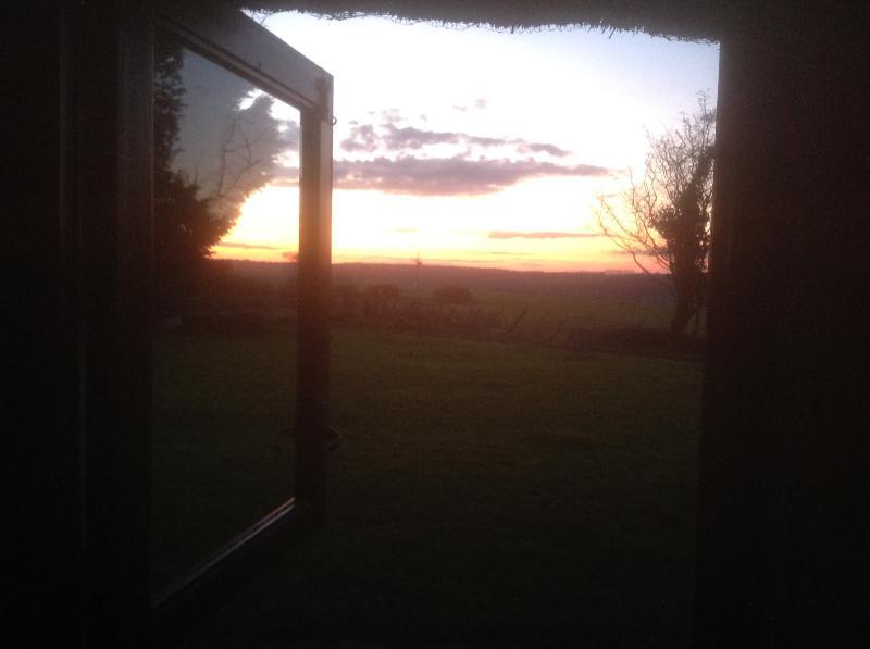 Sunset from annexe bedroom window