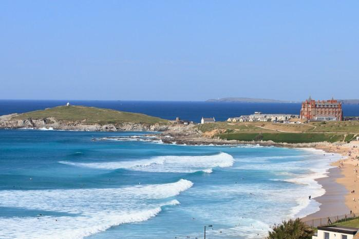 View of Fistral Beach from the Penthouse balcony