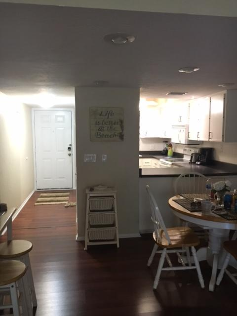entrance way kitchen area