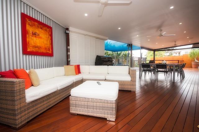 Lounge around the beautiful open deck area.