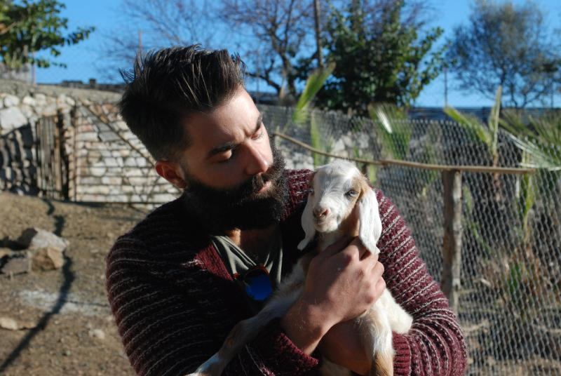 And this is your host with a new born baby goat in the premises.