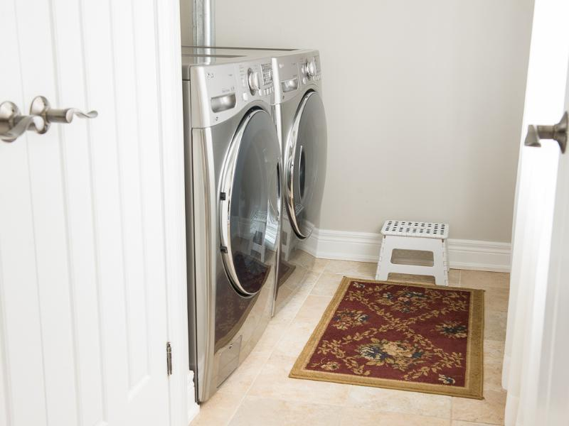 Laundry facilities on premises for extended stays or those 'oops' moments.
