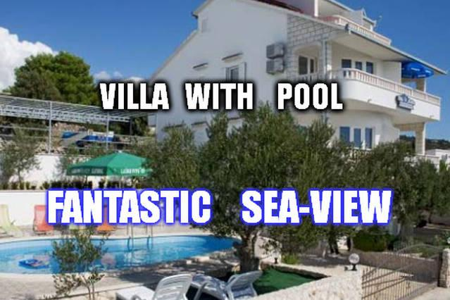 Lovely 2-bedroom app(4+0), sea-view, swimming pool, vacation rental in Sevid