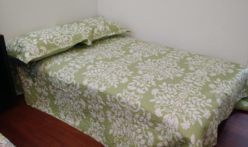 Sofa converted into a twin bed