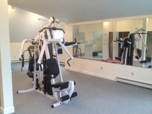 Body Solid workout equipment in the gym-2nd floor Yoga Mat TOO!