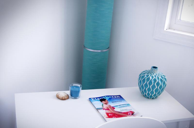 desk in the master bedroom