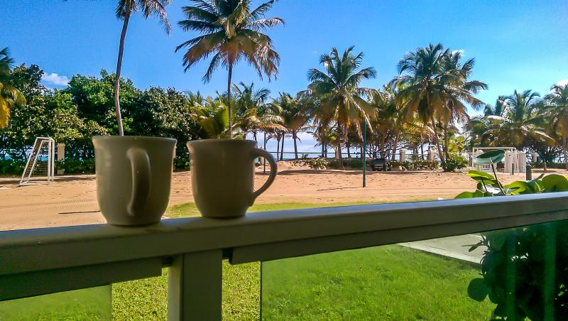 You, Me, Coffee and the beach.