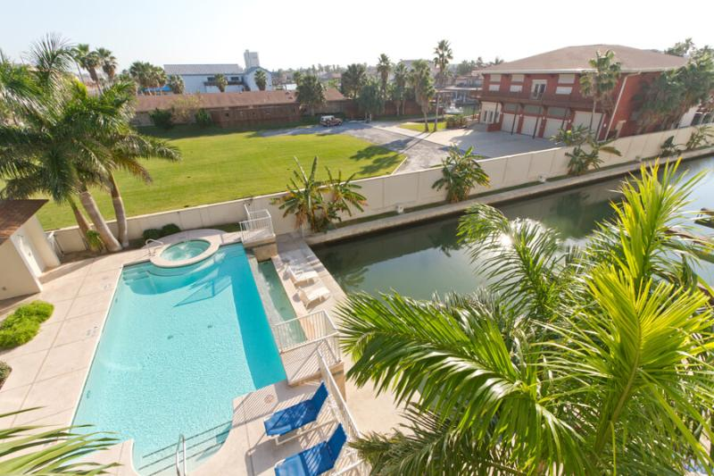 Las Marinas Pool & Channel Viewed From Private Balcony