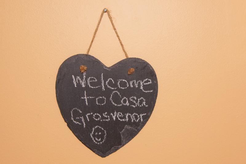 My little welcome board. I especially love when guests leave notes for me before they go