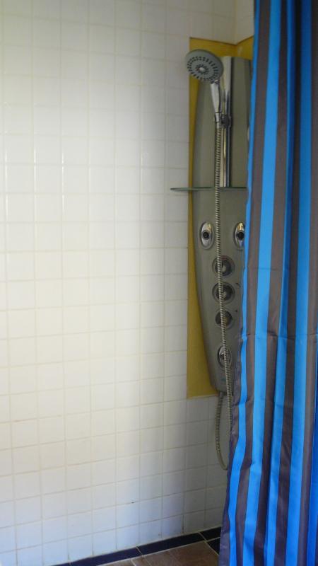 En suite shower room, shower with multiple jets