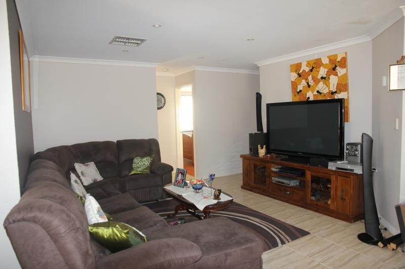 Family room with TV