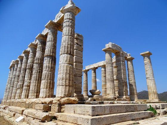 Cape Sounion and the Temple of Poseidon only 20 km away