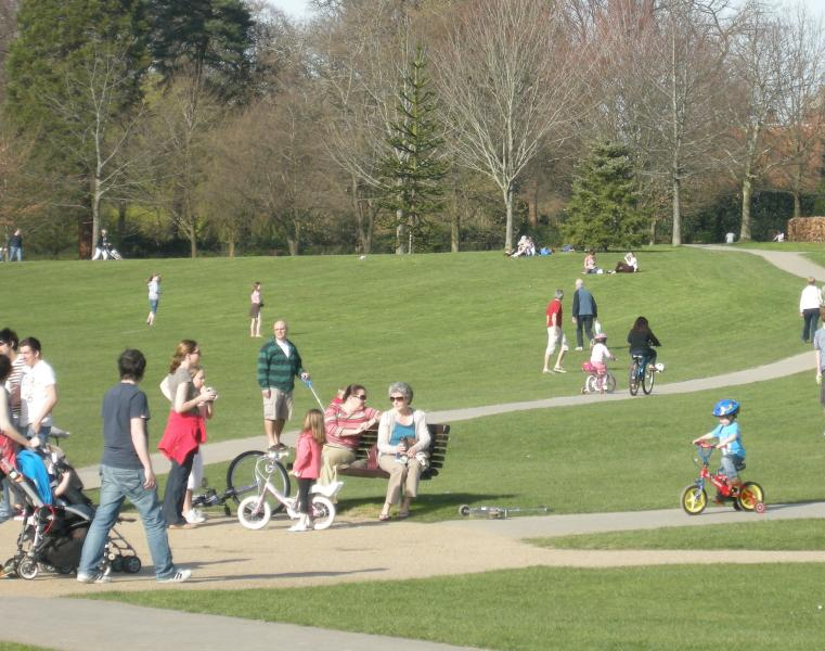 A day out in the park would be great- enjoy sports, restaurants, zoo, cycling, ponds etc