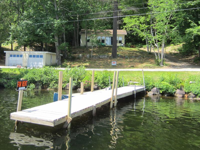 Private waterfront and dock.