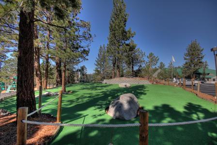 Miniature golf putting green