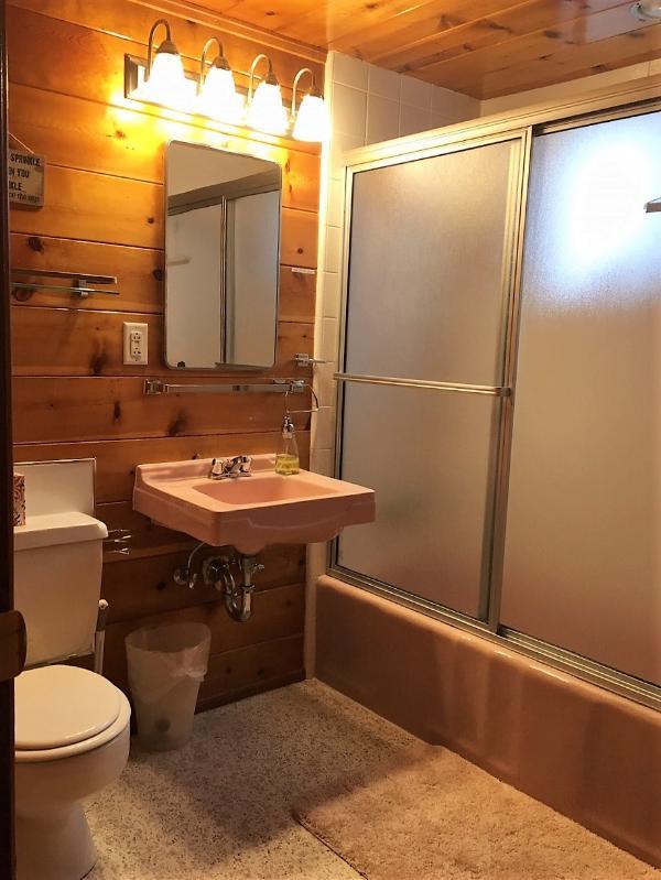 Bathroom is an en-suite off of the main bedroom