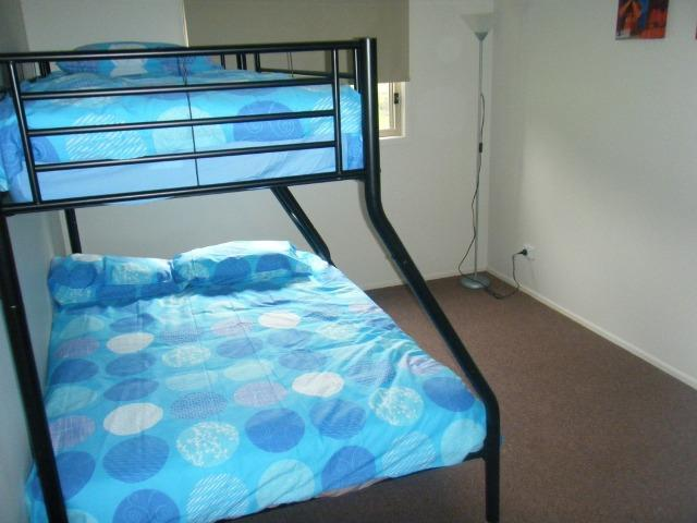 Bedroom 2 & 3 with Double bed and single bunk on top