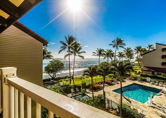 Private Lanai with an Ocean View