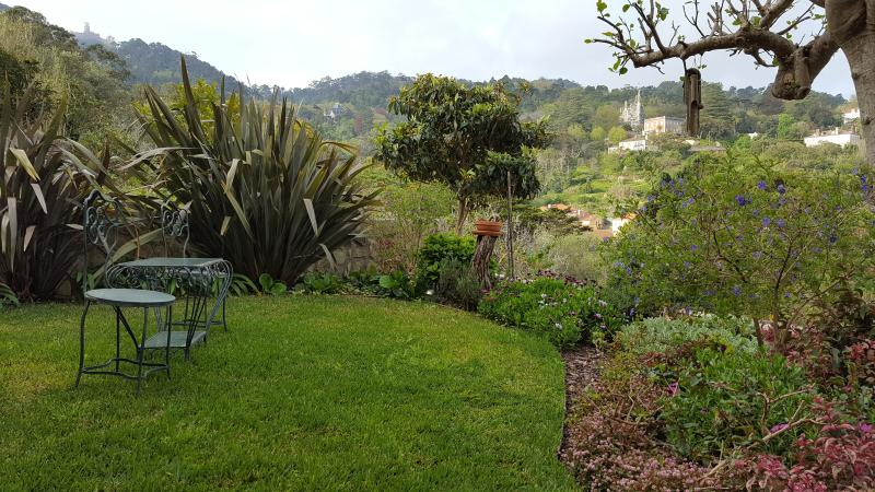 Casa da Fonte - Apatments in Sintra_View from garden - Regaleira and Pena Palace