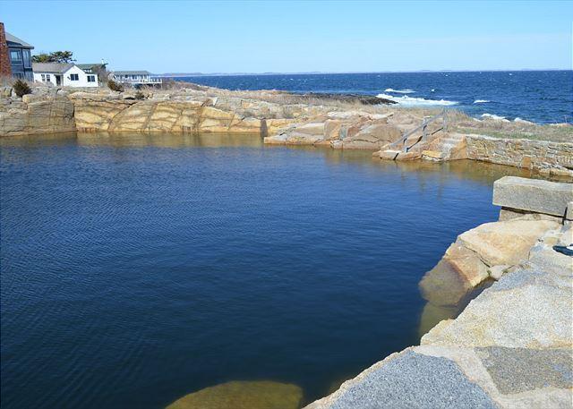 Private neighborhood fresh water swimming quarry.
