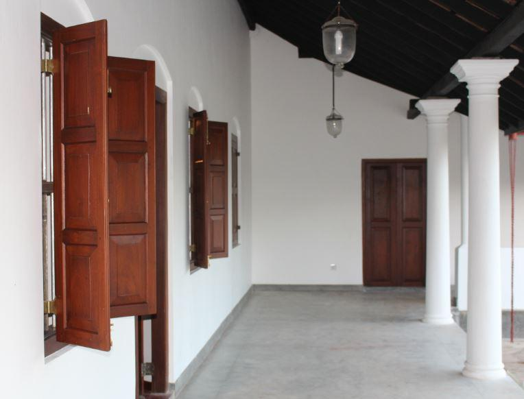 The back corridor opens on to a spacious courtyard.