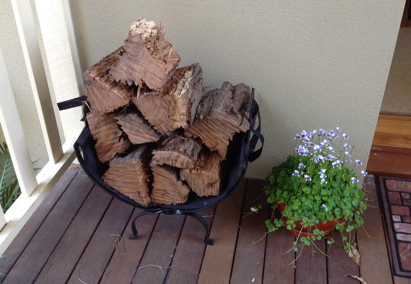 Your fire wood & wild violets