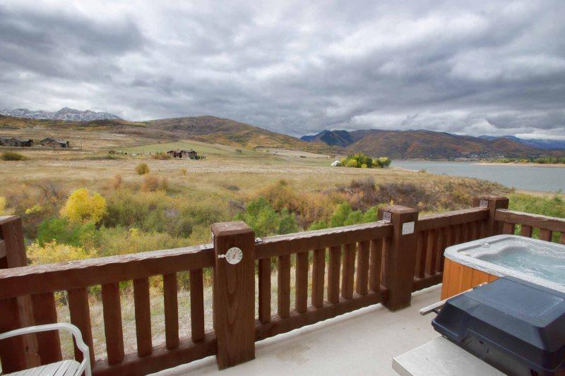 Personnel hot tub with Snowbasin Views