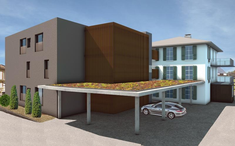 One covered parking space is included with this apartment