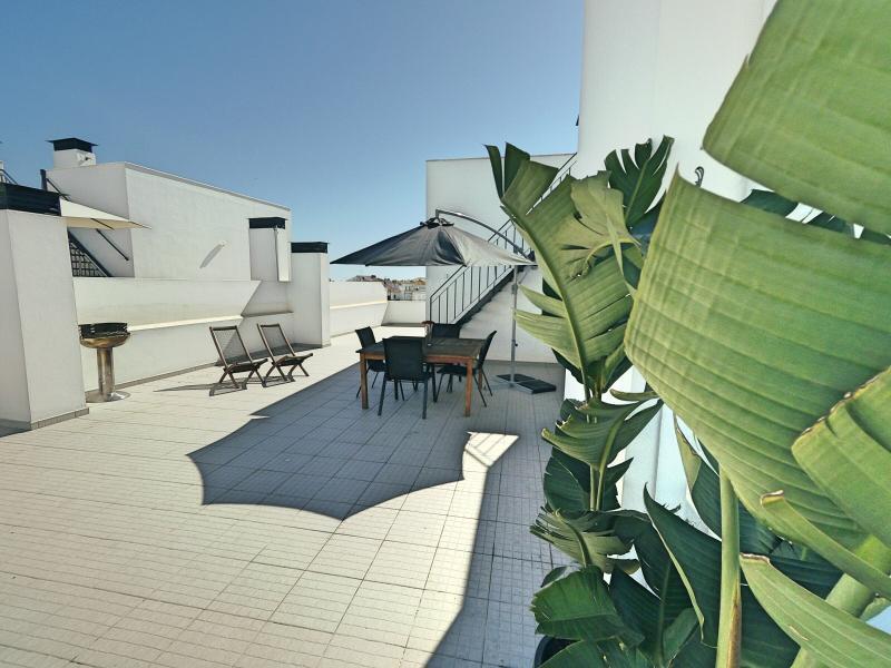 Outdoor penthouse balcony