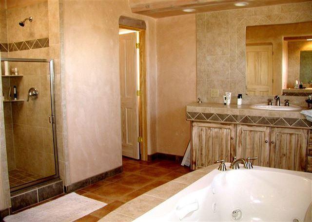 Master separate tub/shower + jacuzzi bath tub