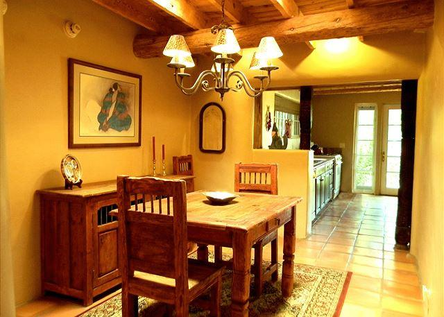 Romantic dining for four with views to private enclosed yard