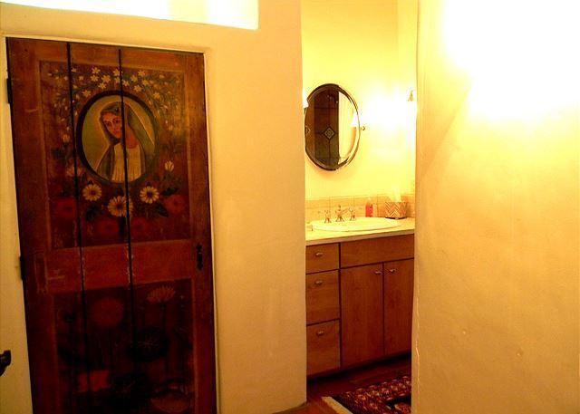HIstoric hand painted linen closet door