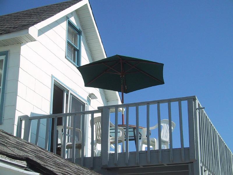 Deck overlooking shore line