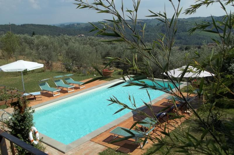 Villa in Chianti with private swimming pool, 10 km from Florence, holiday rental in Mosciano