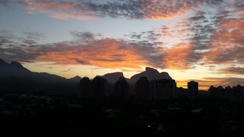 Vista da varanda ao amanhecer