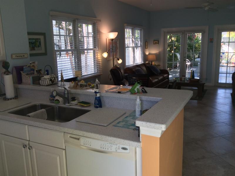 Kitchen through house