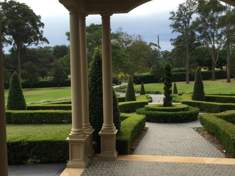 Beautiful manicured gardens