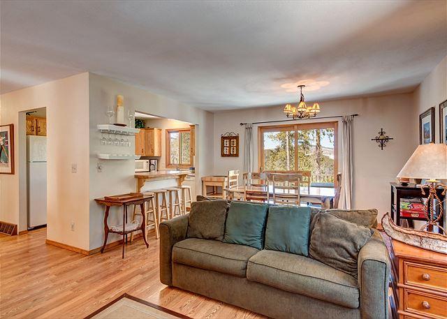 Peak 7 Hideaway Living Area Breckenridge Lodging Vacation Rental