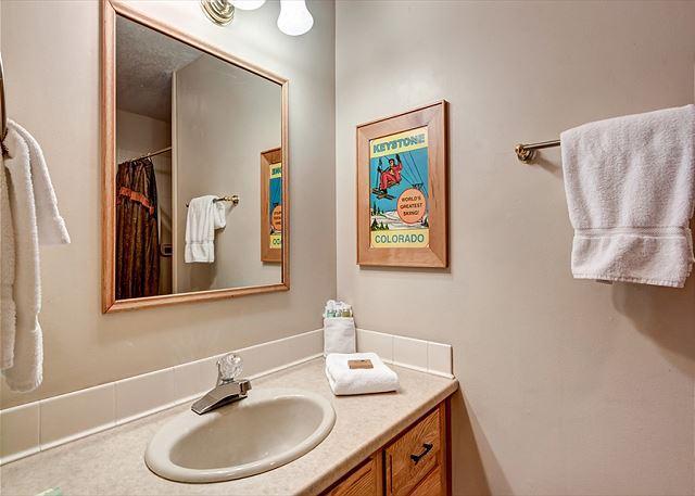 Peak 7 Hideaway Guest Bathroom Breckenridge Lodging Vacation Ren