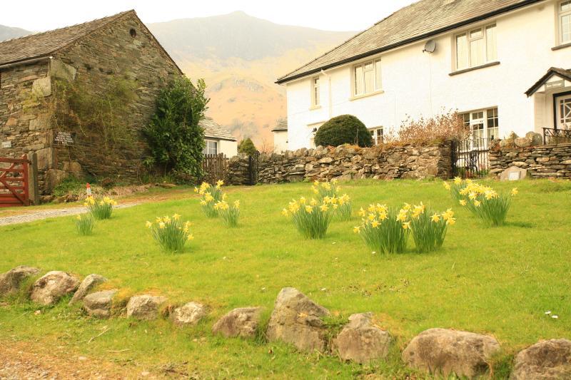 Maiden Moor cottage, tucked away in a quiet corner of Grange village.