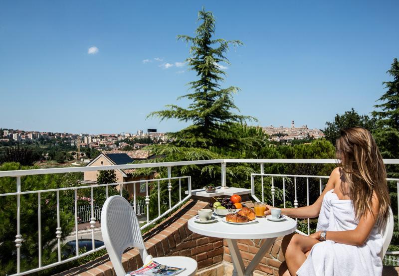 Estudio, terraza vista