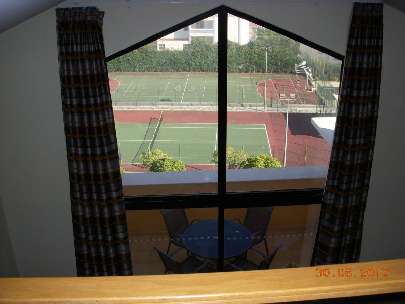 View of tennis and sports courts from our apartment