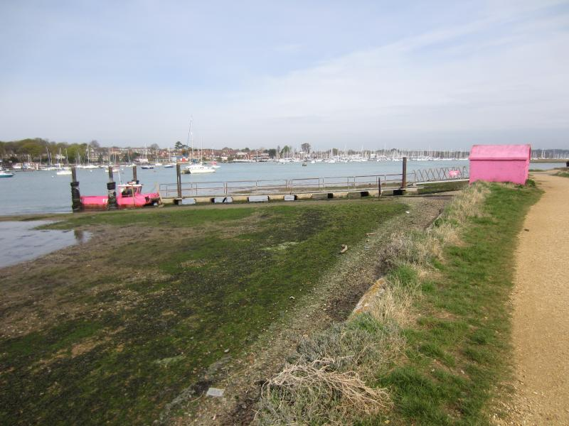 The well known 'Pink Ferry' to Hamble and a lovely walk along the riverside to Swanwick Marina