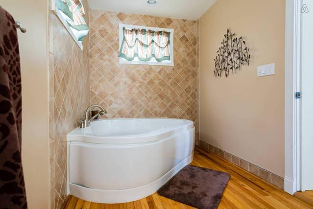 1st floor bathroom - take a spa bath and unwind after your travels
