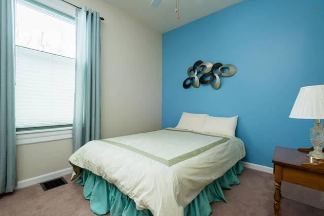 1st floor bedroom - get a peaceful night of sleep in the queen size bed